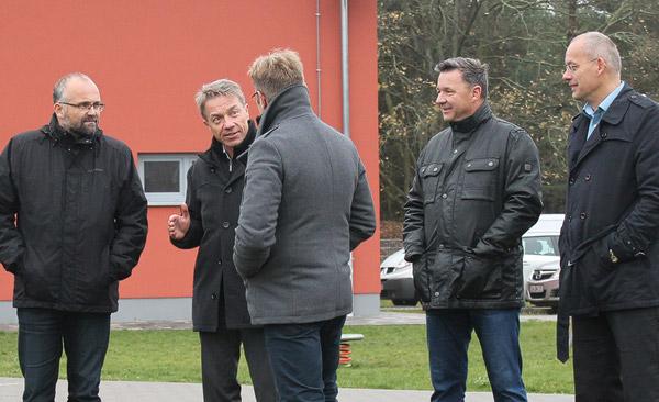 Bildungsminister Baaske beim FSV Fortuna Britz