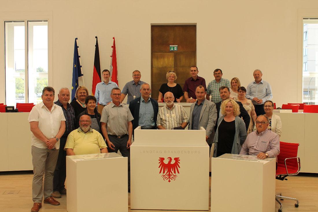 Besuch im Landtag Brandenburg