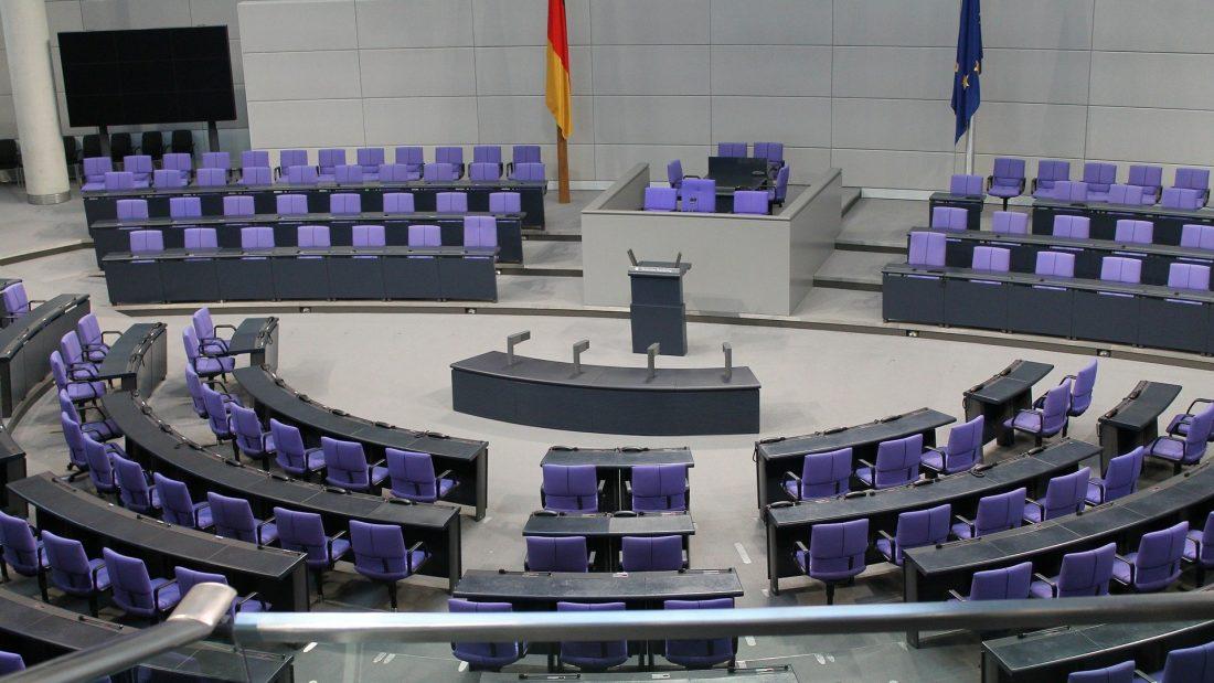 Innenraum des Bundestages