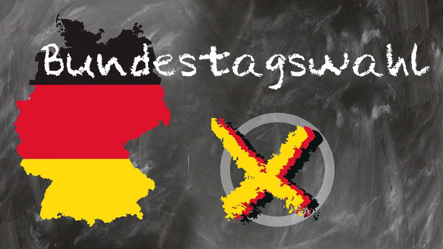 """Deutschlandkarte mit dem Wort """"Bundestagswahl"""""""
