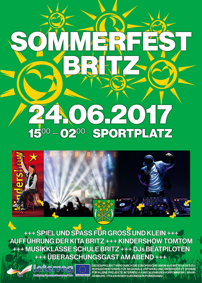 Flyer Sommerfest Britz 2017