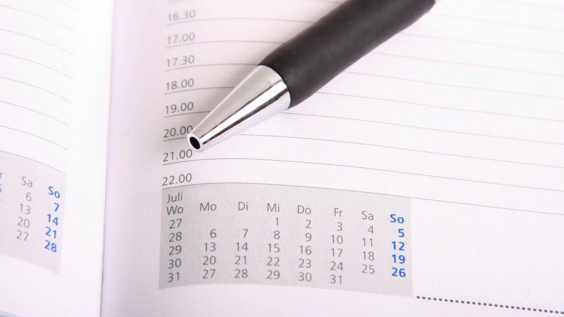 Terminplaner mit Stift
